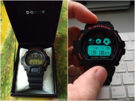 開箱 Casio G-Shock DW6900B-9 狐火系列