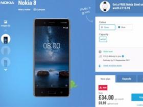 英國預購 Nokia 8 多送一支智慧錶