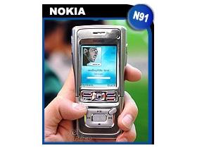 音樂手機出重拳! Nokia N91 滑蓋配硬碟