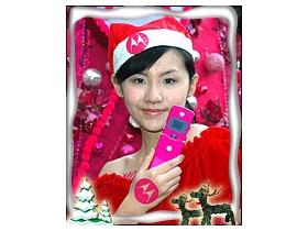桃紅耶誕! MOTO 手寫溫暖送愛心