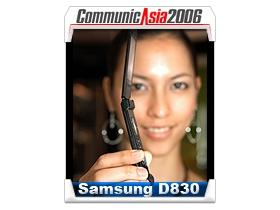 【亞洲電信展】全球最薄摺疊機 Samsung D830