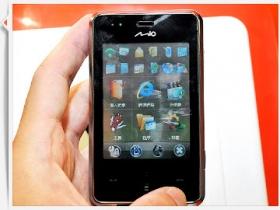 Mio 發功 GPS 雙面手機、WM 6.1 精品亮相