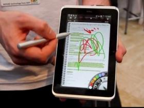 【MWC11】HTC Flyer 現場試玩:神祕的平板裝置,有新鮮功能