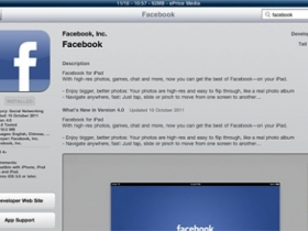Facebook iPad 官方程式推出,趕快來試用吧!